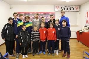 Intervista a Lorenzo Laverone, giocatore del Vicenza, realizzata dai ragazzi del trofeo Andrea e Stefano